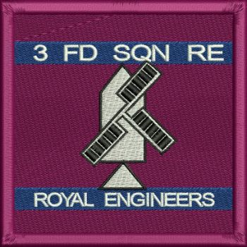 3 Fd Sqn Embroidered Badge